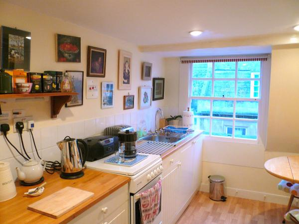 Quaint charm of Abbey Flat's Kitchen