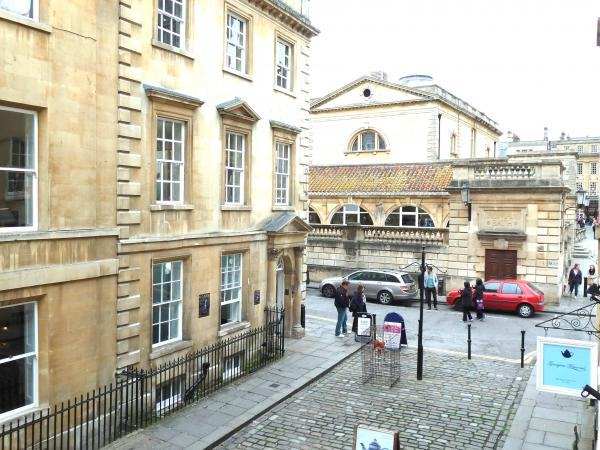 The view to the Roman Baths