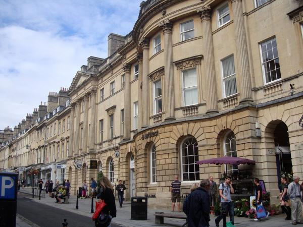 Milsom Street - we are right behind this famous shopping Street