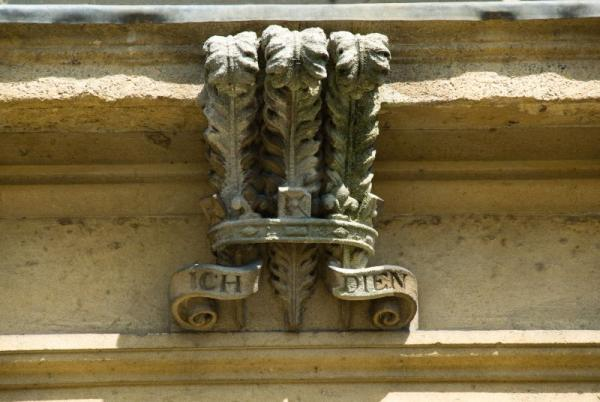 The Stone Crest over the Front Door of The Duchy