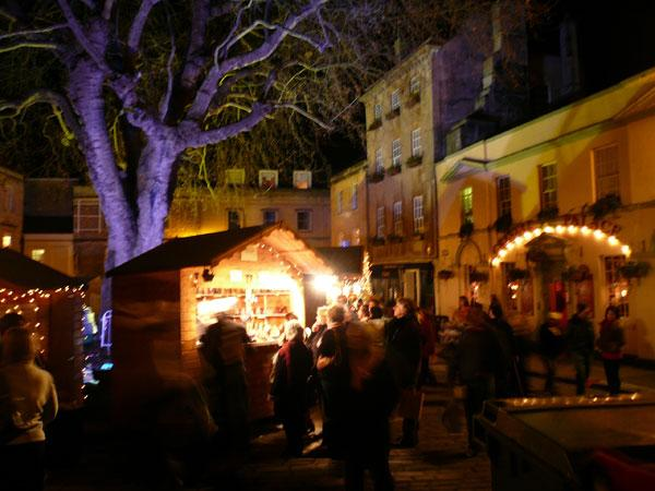 Abbey Green at Night during Christmas Market