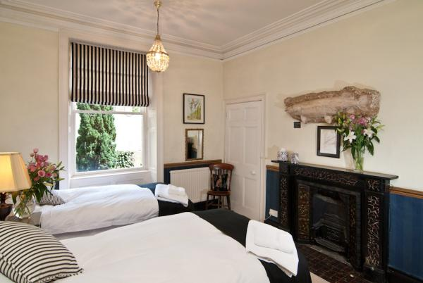 One of the handsome ground floor bedrooms