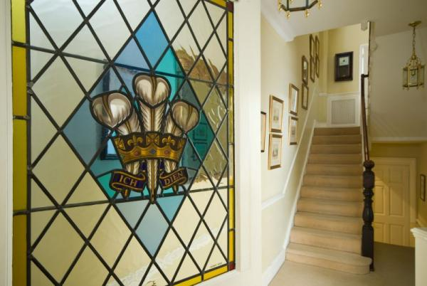 The Prince's Crest on the inner hall door!
