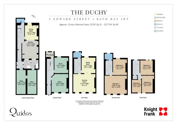 The Floor Plan of The Duchy Townhouse