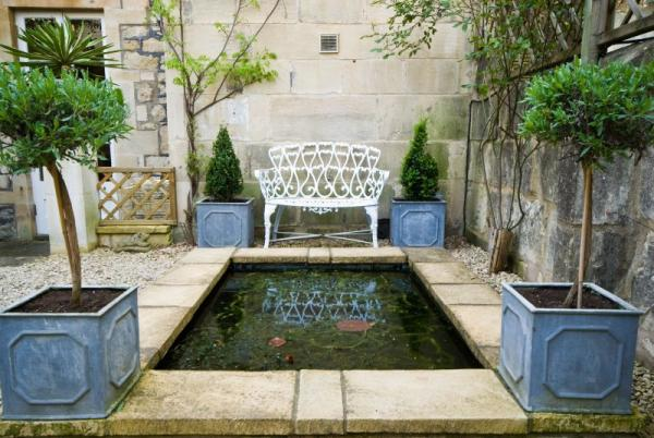 Peaceful reflection in the Garden Pools