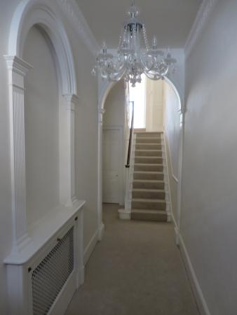 The beautiful hallway with w.c on left