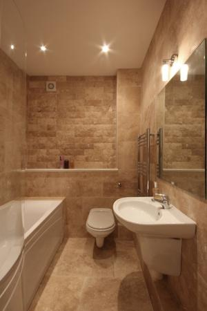 Beautiful Bathroom with shower over bath