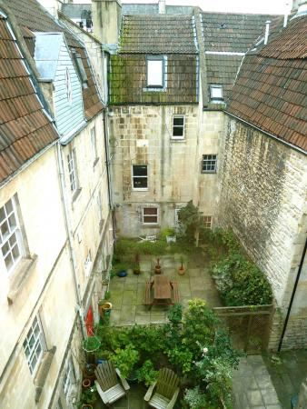 View from the Lounge to the Courtyards