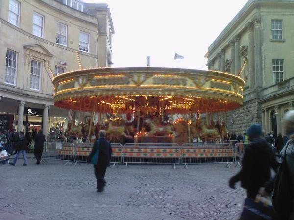 The Carousel at Christmas Time