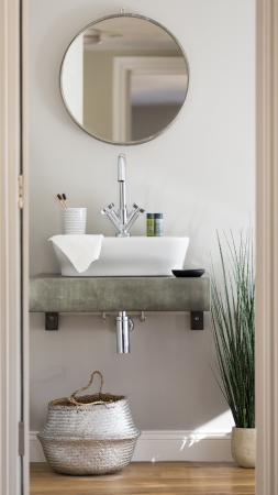 Stylish basin within Ensuite