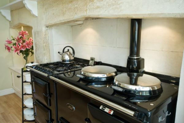 The Kitchen Aga - combined with Gas Cooker!