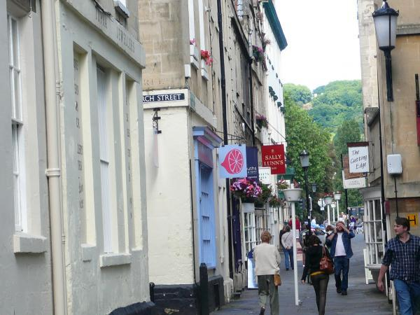 This is the pedestrian lane and the famous Sally Lunn's Restaurant!