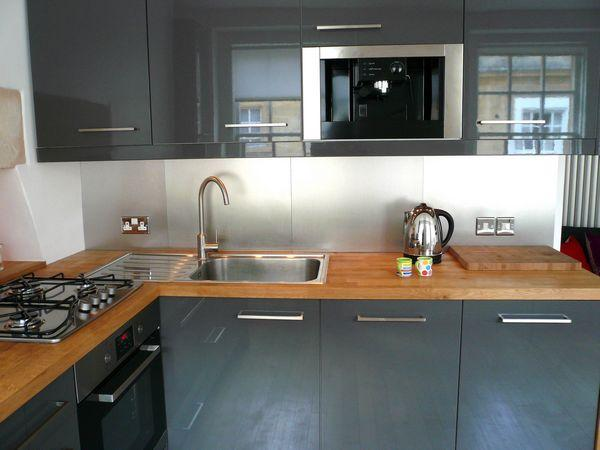 Close up of chic Modern Kitchen