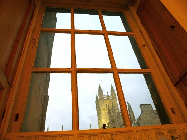 View from the Kitchen Table of Bath Abbey