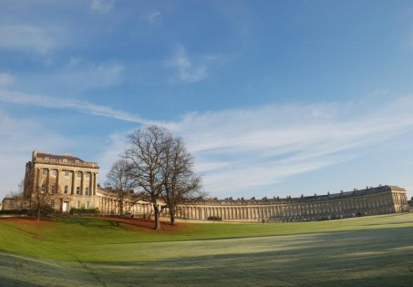 The Royal Crescent on a frosty morning