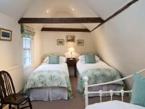Twin beds in the Upstairs loft