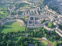 Aerial view of Bath.