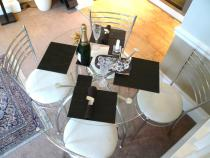 Dining Table with champagne