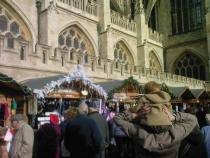Christmas Market around the Abbey in the Day time!