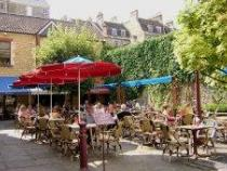Milsom Place and outdoor cafe is just next door