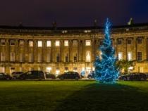 Christmas tree in front of the Royal Crescent.